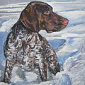 German Shorthaired Pointer In The Snowdrift by Lee Ann Shepard