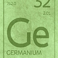Germanium Element Symbol Periodic Table Series 032 by Design Turnpike