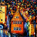 Germany - Medieval Rothenburg by Leonid Afremov