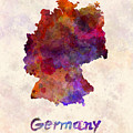 Germany In Watercolor by Pablo Romero