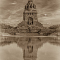 Germany - Monument To The Battle Of The Nations In Leipzig, Saxony, In Sepia by Ina Kratzsch