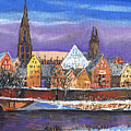 Germany Ulm Panorama Winter by Yuriy Shevchuk