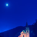 Gerovo Church By Moonlight by Don Wolf