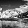 Gervais St. Bridge-infrared-bw by Charles Hite