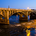Gervais Street Bridge At Twilight by Charles Hite