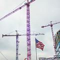 Getter Done Tower Crane Construction Art by Reid Callaway
