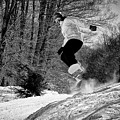 Getting Air On The Snowboard by David Patterson
