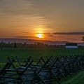 Gettysburg At Sunset by Bill Cannon