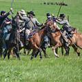 Gettysburg Cavalry Battle 7948c  by Cynthia Staley