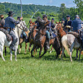Gettysburg Cavalry Battle 7970c  by Cynthia Staley
