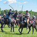 Gettysburg Cavalry Battle 7978c  by Cynthia Staley