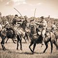 Gettysburg Cavalry Battle 7978s  by Cynthia Staley