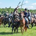Gettysburg Cavalry Battle 7992c  by Cynthia Staley