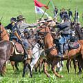 Gettysburg Cavalry Battle 8021c  by Cynthia Staley