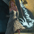 Ghost Chasing Princess In Dark Dungeon by Martin Davey