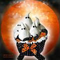 Ghost Cupcake by Carol Cavalaris