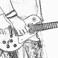 Gibson Les Paul Guitar Sketch by Randy Steele