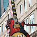Gibson Les Paul Of The Hard Rock Cafe by DigiArt Diaries by Vicky B Fuller