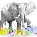 Gift Wrapping Elephant by Selinda Van Horn