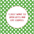 Gifts And Cookies- Art By Linda Woods by Linda Woods