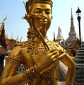 Gilded Statue Of A God At The Grand by Anne Keiser