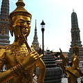 Gilded Statues Of Gods At The Grand by Anne Keiser