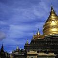 Gilded Stupa Of The Shwezigon Pagoda In Bagan by Sami Sarkis