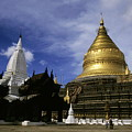Gilded Stupa Of The Shwezigon Pagoda by Sami Sarkis
