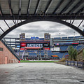 Gillette Stadium And The Four Super Bowl Banners by Brian MacLean