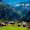 Gimmelwald In Swiss Alps - Switzerland by Gary Whitton