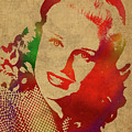 Ginger Rogers Watercolor Portrait by Design Turnpike