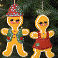 Gingerbread Christmas Ornaments by Sally Weigand