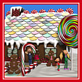 Gingerbread House Christmas Scene by Judi Suni Hall