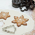 Gingerbread Making - Christmas Preparing With Vintage Kitchen Tools by Andrea Varga