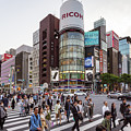 Ginza Sanchome Intersection In Tokyo In Japan by Didier Marti