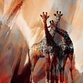 Giraffe Abstract Art 002 by Gull G
