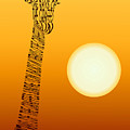 Giraffe And Sun by Emese Horvath
