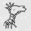 Giraffe Black Star by Hieu Tran