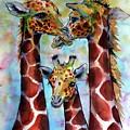 Giraffe Family by Kovacs Anna Brigitta