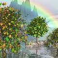 Giraffe Rainbow Heaven by Susanna Katherine