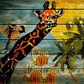 Giraffe Rustic by Saundra Myles