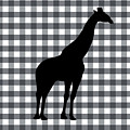 Giraffe Silhouette by Linda Woods