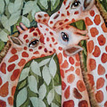 Giraffe Trio By Christine Lites by Allen Sheffield