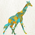Giraffe Watercolor Art by Christina Rollo