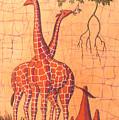 Giraffes Feeding by Peter Chikwondi