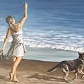 Girl And Dog by Natalia Tejera