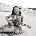 Girl And Her Ukulele by Brandon Tabiolo - Printscapes