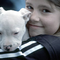 Girl And Puppy by Samuel M Purvis III