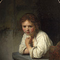 Girl At A Window  by Rembrandt