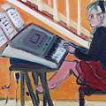 Girl At Keyboard by Betty Pieper
